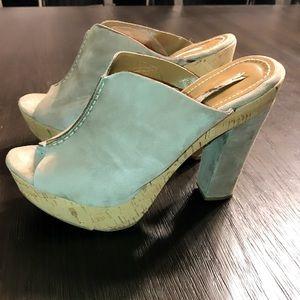 Zara suede platform mules sandals Euro 40 US 9